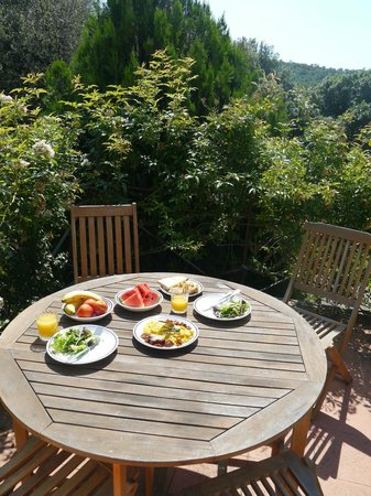 Pieve di Caminino Historic Farm: Breakfast on the Belvedere Terrace
