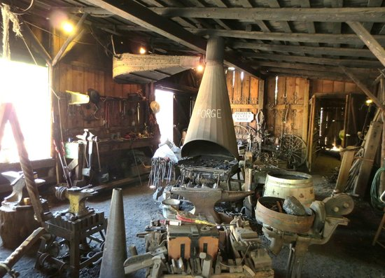 Columbia State Historic Park: working Blacksmith Shop and retailer