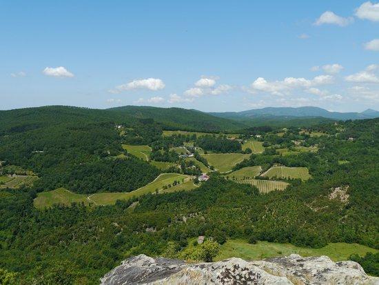Pieve di Caminino Historic Farm: A view from Roccatederighi