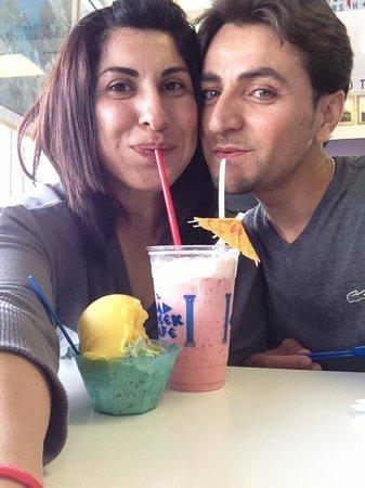 The Mad Greek: Enjoying ice cream before heading back to LA