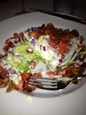 D Carlo: d.carlo wedge salad ( after I cut up)