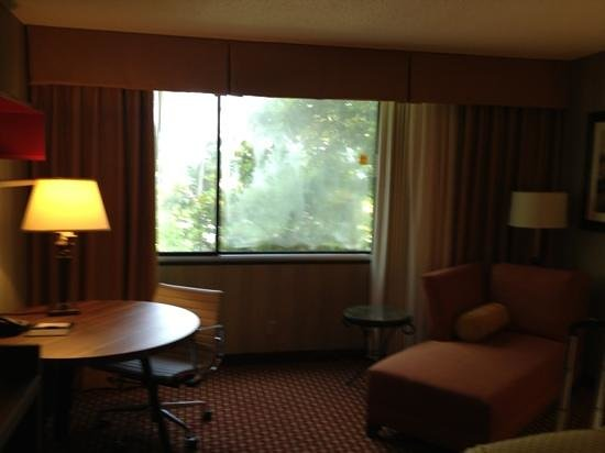 DoubleTree by Hilton Hotel Atlanta - Marietta: window actually opens, fogged up due to the temp variance