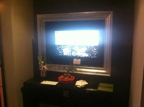 Hotel de l'Opera Hanoi: Pewter framed TV !