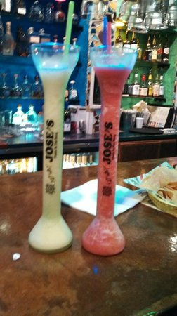 Yard's of frozen margarita's!  Melon and Berry