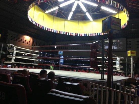 Patong Stadium Muay Thai Gym : Great seats