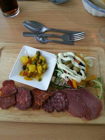 The Minnis Bay Bar & Brasserie: Home produced meat selection