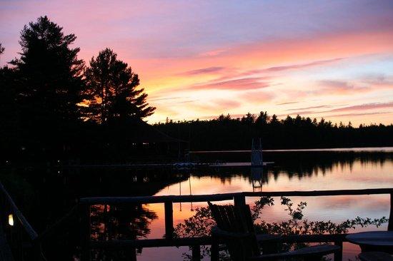 Arowhon Pines: Sunset, 10 PM