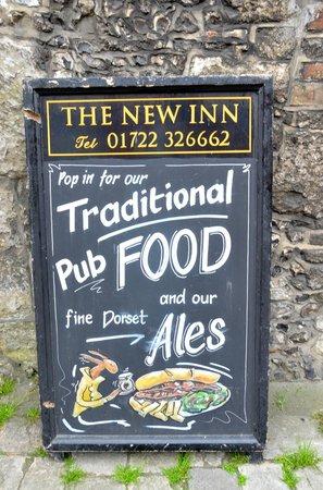 The New Inn: Sign at New Inn