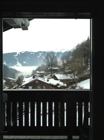 Pension Mühle: The nice view from the room with balcony