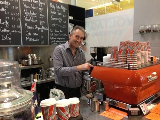Voltage Espresso: Craig making another wonderful coffee