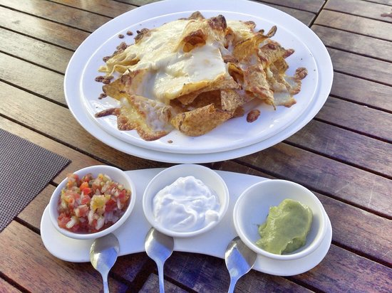 Luca: Crunchy cheesy nachos with assorted dips