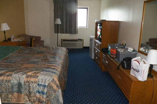 Super 8 Rockford: Nice view of the room.