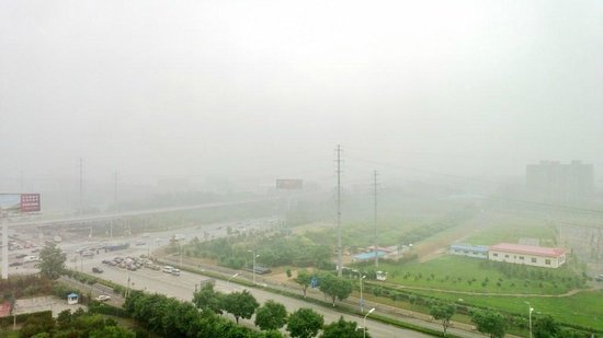 Crowne Plaza Beijing International Airport: Rainy