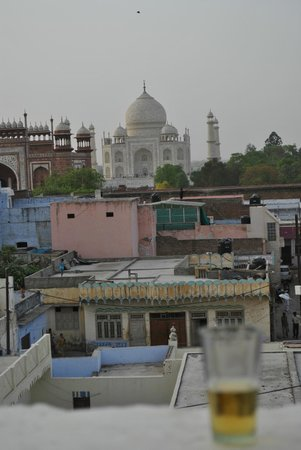 Hotel Kamal: Great view of the Taj Mahal and the local monkey clan