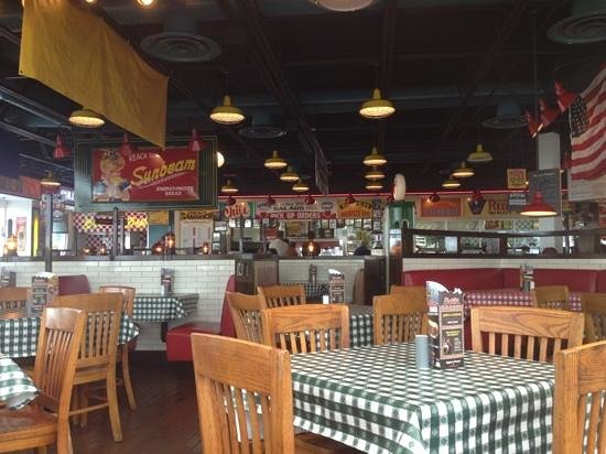 Portillo's Hot Dogs: a view from the window seats