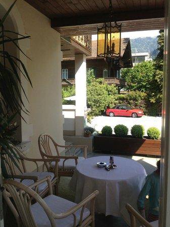 Hotel de la Paix: perfect sit out for evening coffee