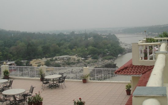 View from terrace picture of divine resort rishikesh for Terrace jhula