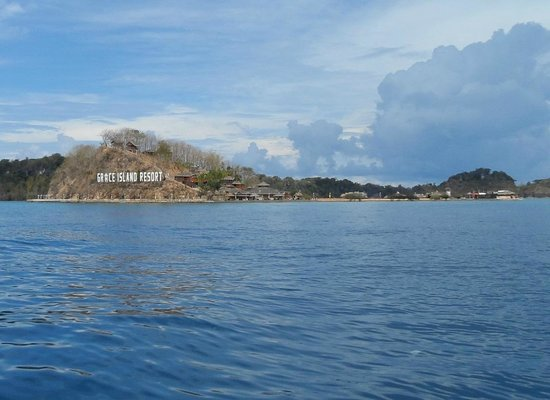 San Jose, Philippines: Grace Island viewed from boat