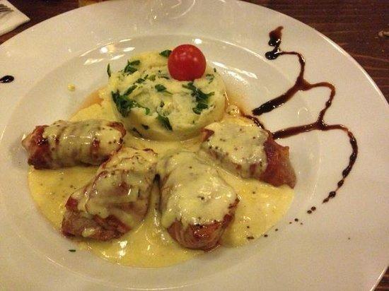 Mamma Mia: Bocconcini di pollo con salsa di Mostarda e purea di Patate