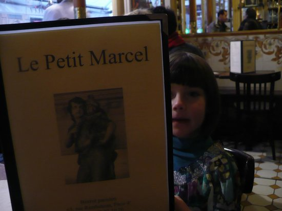 Brasserie Le Petit Marcel : Our little daughter liked the menu ;-)