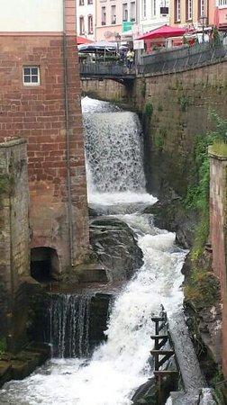 The waterfall in Saarburg