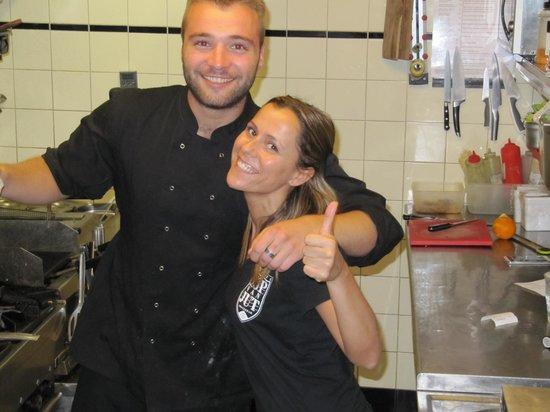 Kop van Jut: The chef and charming Spanish waitress.