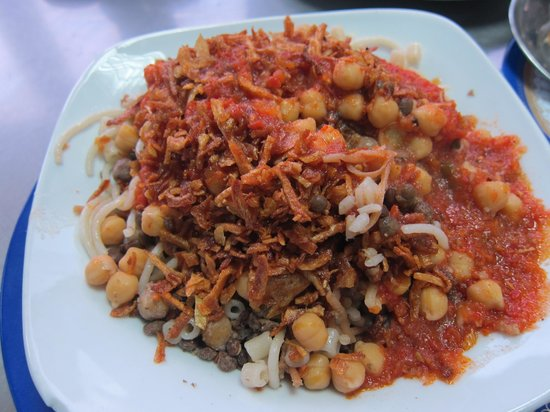 Koshary Abou Tarek: Large Koshary only food available in this popular restaurant