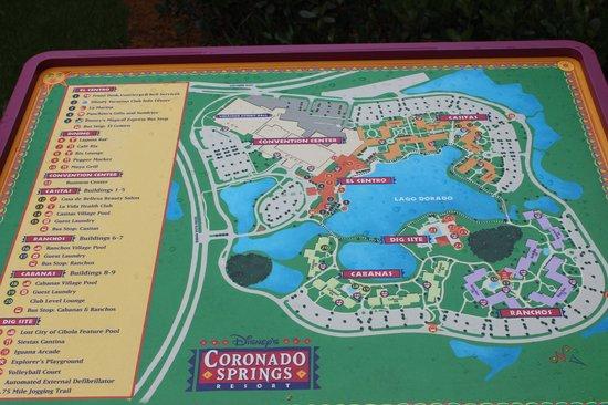 Map Picture Of Disney S Coronado Springs Resort Orlando Tripadvisor