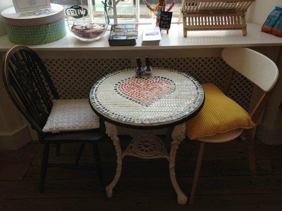 Artist Residence: Breakfast table