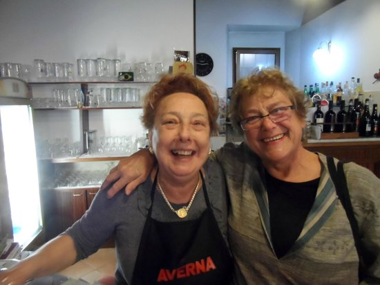 Ristorante La Genovese: Stefania (left) and Marina after lunch