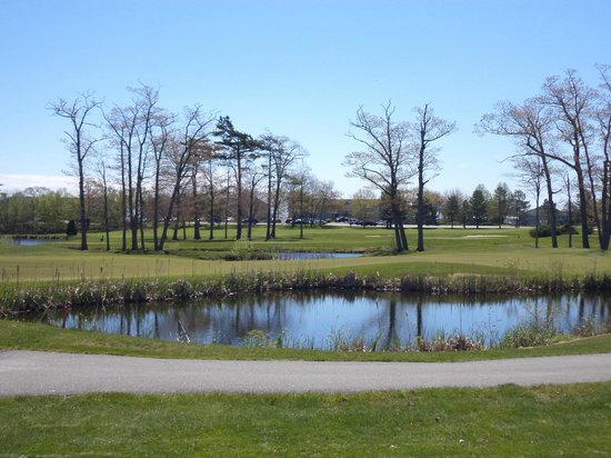 Samoset Resort Golf Course: view from the driving range
