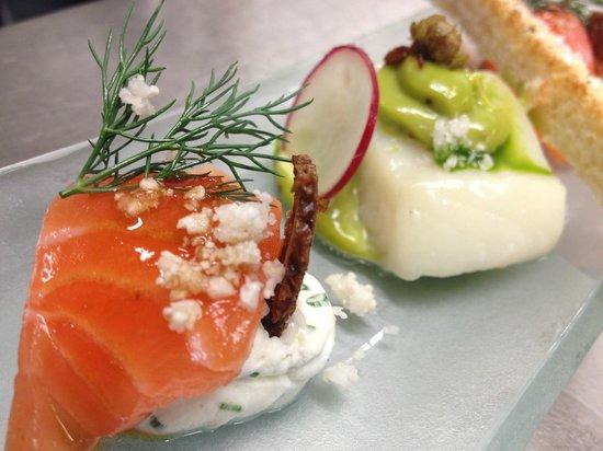 La Régate restaurant : Taps norvégien : Saumon Salma et Flétan sauvage