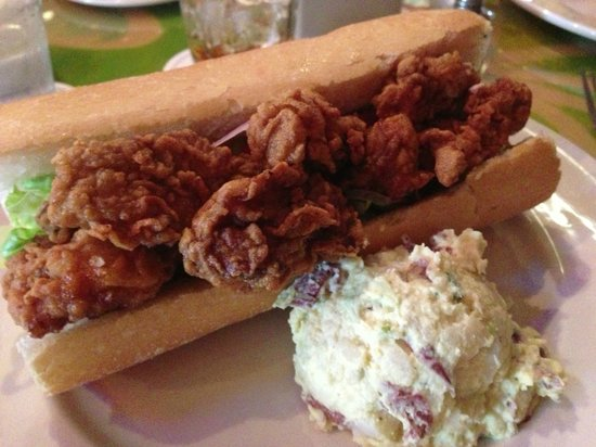 Oyster po boy picture of red fish grill new orleans for Red fish grill new orleans la