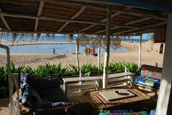 Casa na Praia Tofo: View from common area (ground floor)