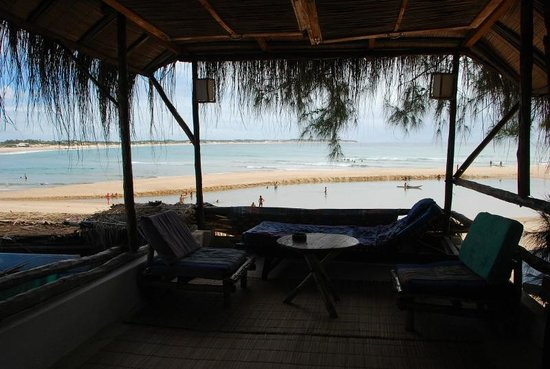 Casa na Praia Tofo: View from our room (upper floor)