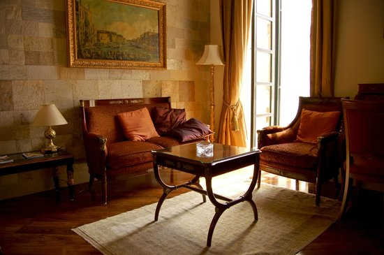 The Pucic Palace: Junior suite sitting area