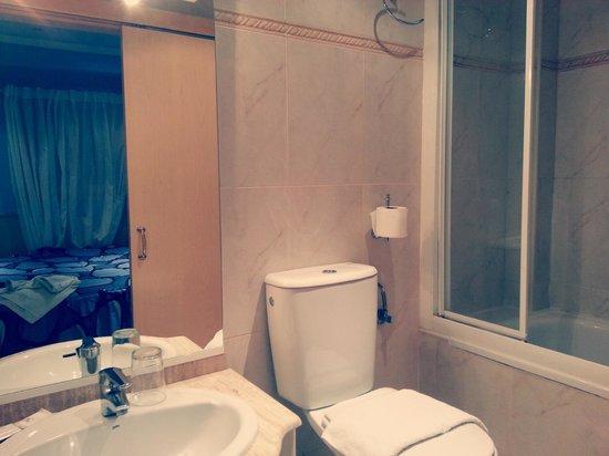 Hostal Horno de Aralar: Baño.