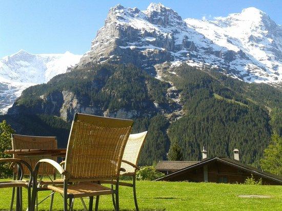 Sunstar Alpine Hotel Grindelwald: Garden with Eiger view - Sunstar Hotel Grindelwald