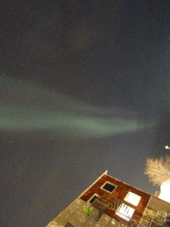 Hotel Inari : Aurora Boreale vicino all'hotel