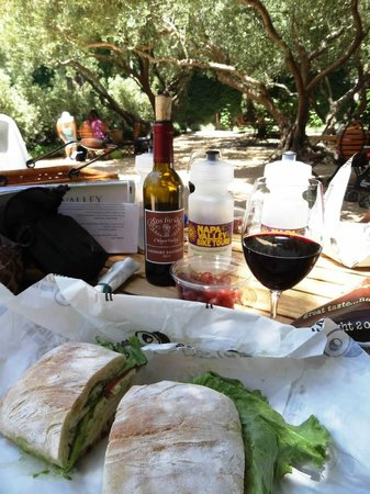 Sonoma Valley Bike Tours & Rentals: Lunch provided by company (minus the wine). It was delicious!
