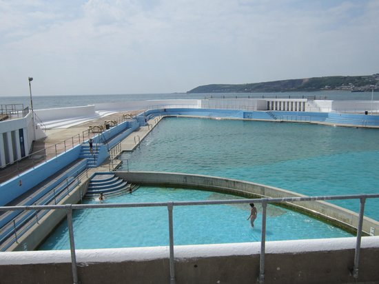 Looking Down Into Pool Picture Of Jubilee Pool Penzance Tripadvisor