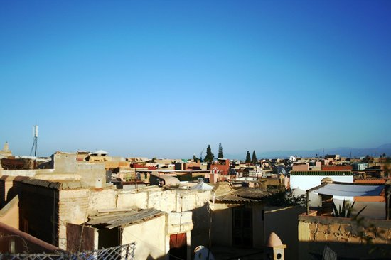 Riad Dar Iaazane: View from the terrace on the roof (gorgeous!)
