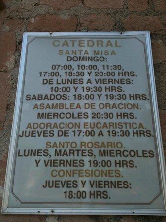 La Paz Cathedral : horarios de misa y eventos