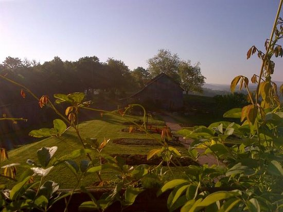 Heavens Holler B&B : The view from the balcolny