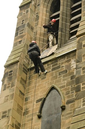 Glasgow Climbing Centre: You can abseil out of our spire !