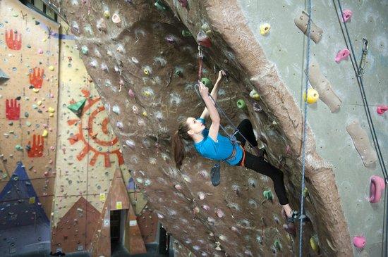 Glasgow Climbing Centre: Steep lead wall