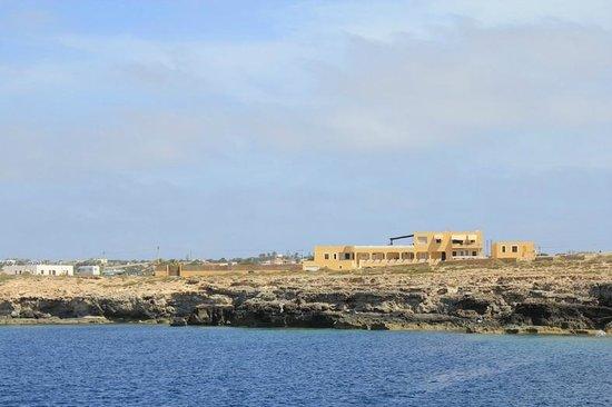 Hotel Mare Blu: Questa è la vista di Mare Blu fatta durante la gita in barca