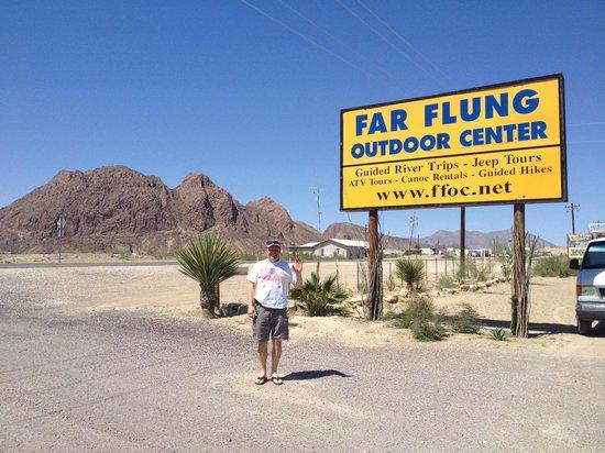 Big Bend Casitas at Far Flung Outdoor Center: Far Flung Sign
