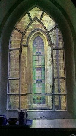 The Old Sunday School: One of the window features in the bedroom