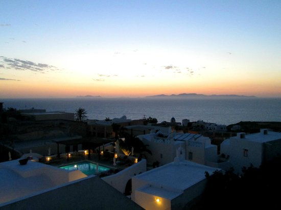 Aethrio Hotel: View of ocean, and hotel grounds from private rooftop terrace